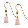 Golden White Quartz Cylinder Sterling Silver 11x8 mm Earrings