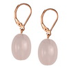 Rose Quartz Oval Sterling Silver 16x12 mm Earrings