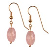 Rose Quartz Faceted Drop Sterling Silver 15x10 mm Earrings