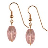 Rose Quartz Faceted Drop Sterling Silver 18x11 mm Earrings