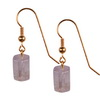 Rose Quartz Cylinder Sterling Silver 11x8 mm Earrings