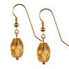 Golden Citrine Faceted Drop Sterling Silver 14x8 mm Earrings