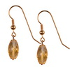 Golden Citrine Faceted Drop Sterling Silver 16x10 mm Earrings