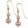 Cultured Pink Pearl Round 6/10 mm Sterling Silver Earrings
