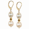 Cultured white Pearl Round 6 mm Sterling Silver Earrings