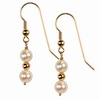 Cultured white Pearl Round 6mm/10 mm Sterling Silver Earrings