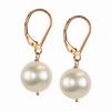 Raw Cultured Pearl Round Sterling Silver 10 mm Earrings