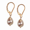 Cultured Pink Pearl Fancy 8x6 mm Oval Sterling Silver Earrings