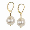 Cultured white Pearl Round 10 mm Sterling Silver Earrings