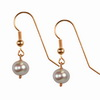 Cultured Grey Pearl Round 8 mm Sterling Silver Earrings