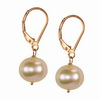 Pink Cultured Pearl Round Sterling Silver 8 mm Earrings