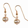 Pink Cultured Pearl Round Sterling Silver 10 mm Earrings
