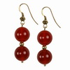 Carnelien Round Sterling Silver Earrings