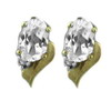 White Sapphire Earrings in 10K Yellow Gold