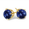 1 Carat Tanzanite Earrings in 14K Yellow Gold