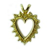 Heart Gold Over Silver Pendant