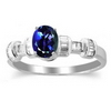 1.28 Carats Tanzanite VS Diamond Ring in 18k White Gold