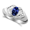 Tanzanite Diamond Ring in 14K White Gold