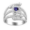 1.79 Carat Tanzanite VS Diamond Ring in 18k White Gold