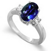 1.17 Carats Tanzanite VS Diamond Ring in 18k White Gold