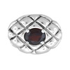 Garnet Oval Pendant in Sterling Silver