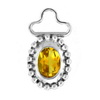 Golden Citrine Oval Pendant in Sterling Silver