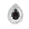 Garnet Pear Pendant in Sterling Silver