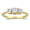 Three Stone Ring- 0.35 Carat Diamond Ring in 14K Gold