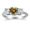 Three Stone Ring- 2 Carats Twt. Diamond Ring in 14K Gold