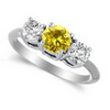 Three Stone Ring- 0.35 Carat Twt. Diamond Ring in 14K Gold