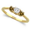 Three Stone Ring- 0.50 Carat Twt. Diamond Ring in 14K Gold