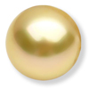 7 mm Round Golden  Cultured Pearl in AA grade Full Drilled