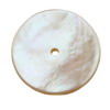 15mm Round Donunt White Mother of Pearl in AA grade Full Drilled