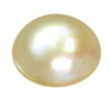 4 mm Round Flat Bottom White Pearl in AA grade Half Drilled