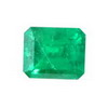 Certified 1.36 Carat Octagon Emerald in AA Grade