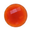 18 mm Red-Orange Round Briolette Carnelian in AAA grade