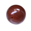 20 mm Brown Round Chalcedony in AAA grade