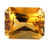 14x10 mm Octagon Shape Simulated Citrine in Super Fine Grade