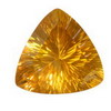 16 mm Trillion shape Golden Yellow Fluorite