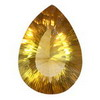 16x12 mm Pear shape Golden Yellow Fluorite