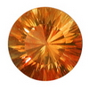 24 Carats Round Rich Gold Synthetic Padparadscha Quartz