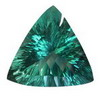 16mm Trillion shape  Neon Green Fluorite