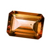 22 Carats Octagon Rich Gold Synthetic Padparadscha Quartz
