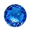 5 mm Round Shape Simulated Sapphire in Fine Grade