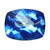 6x4 mm Cushion Checker Board Glacier Blue Topaz AAA Grade
