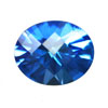 12x10 mm Oval Shape Simulated Sapphire in Fine Grade