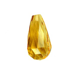 7x5 mm Faceted Briolette Golden Citrine in AAA Grade