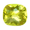 15x7 mm Checker Board Cushion Golden Green Quartz