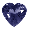 7 mm Heart Iolite in AAA Grade