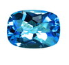 7x5 mm London Blue (Kashmir Blue) Cushion Topaz in AAA Grade
